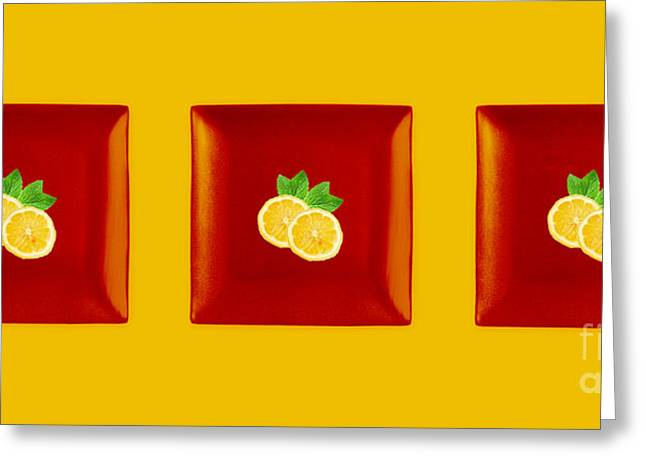 Kitchen Art - Citrus Lemon Greeting Card by Aimelle ML