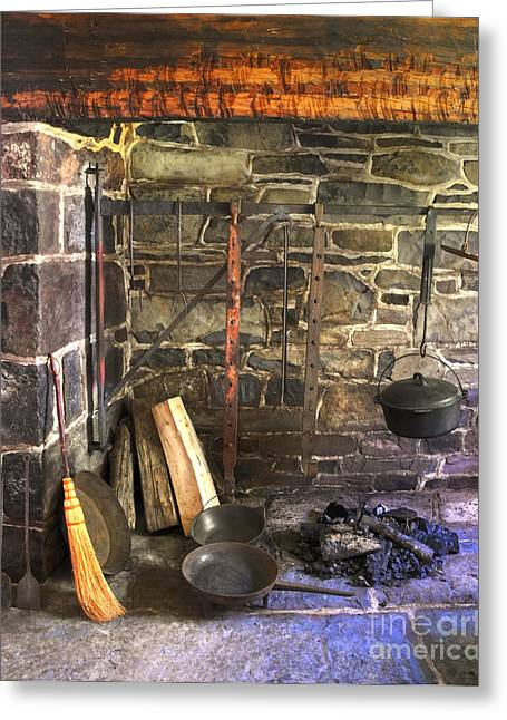 Kitchen - Colonial Pots And Pans Greeting Card by Paul Ward