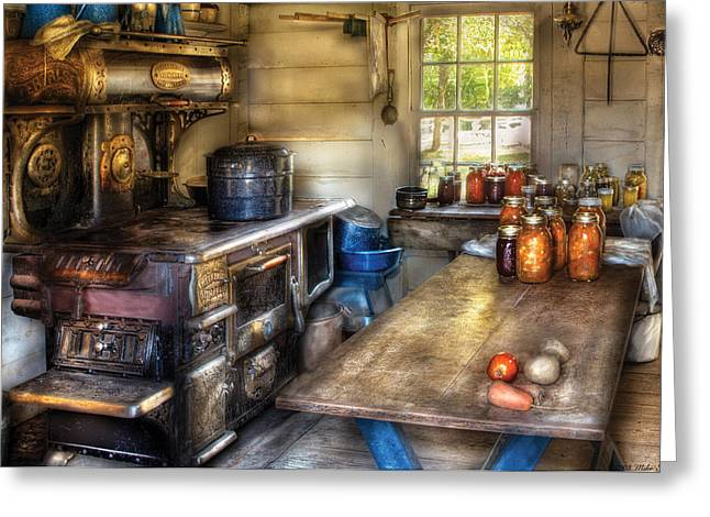 Kitchen - Home Country Kitchen  Greeting Card by Mike Savad