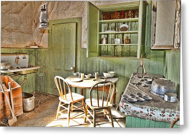 Kitchen In Bodie By Diana Sainz Greeting Card