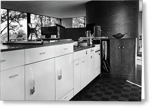 Kitchen Inside A House Designed By Philip C Greeting Card by Andr? Kert?sz