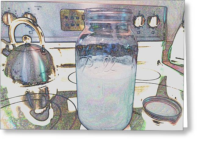 Greeting Card featuring the digital art Kitchen Life by Aliceann Carlton