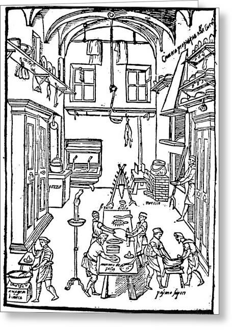 Kitchen Scene, 1605 Greeting Card by Granger