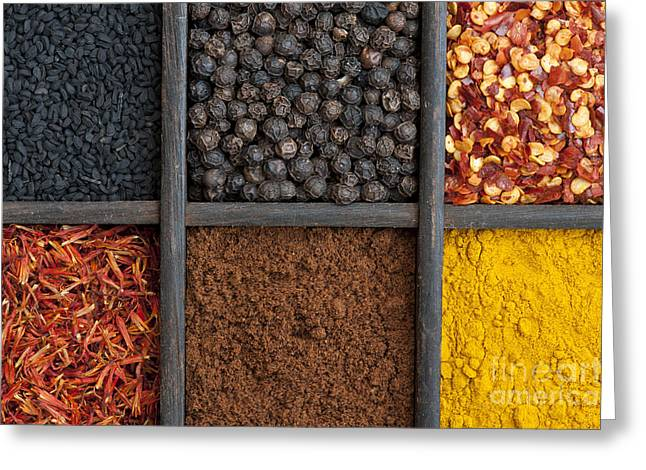 Kitchen Spices Greeting Card by Tim Gainey