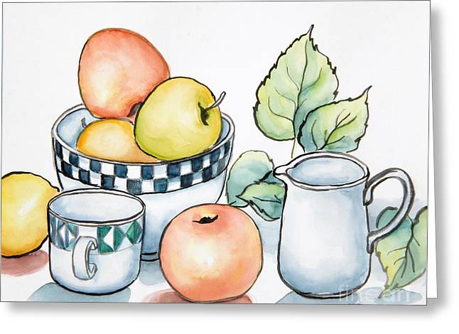 Kitchen Still Life Sketch Greeting Card