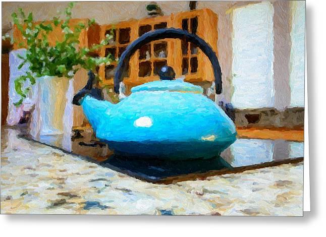 Kitchen Tea Pot Greeting Card