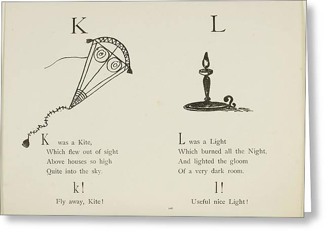 Kite And Light Greeting Card