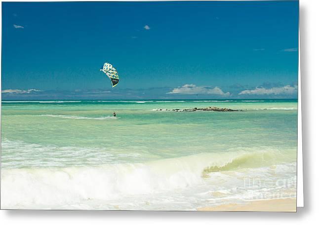 Kite Beach Kanaha Maui Hawaii Greeting Card by Sharon Mau