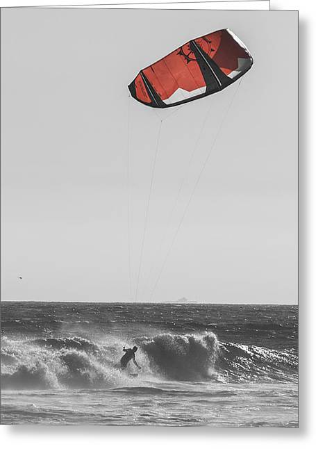 Kite Dont Fail Me Now Greeting Card by Scott Campbell