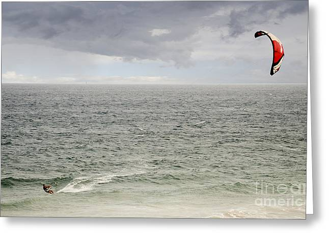 Kite Surfer 1 Greeting Card by Christopher Edmunds