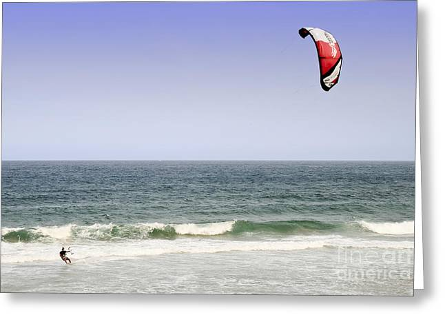 Kite Surfer 2 Greeting Card by Christopher Edmunds