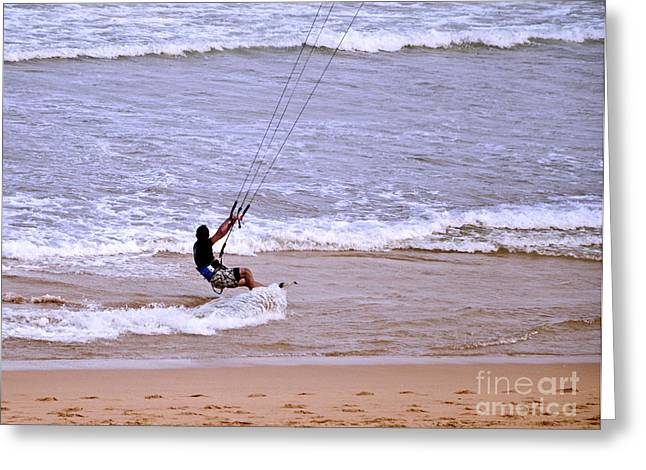 Kite Surfer 3 Greeting Card by Christopher Edmunds