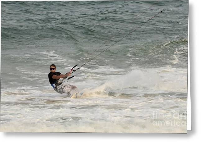 Kite Surfer 4 Greeting Card by Christopher Edmunds