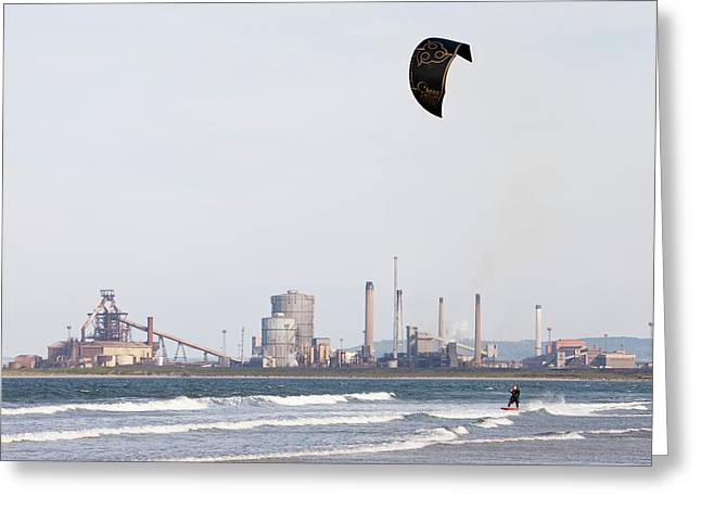 Kite Surfer Greeting Card by Ashley Cooper