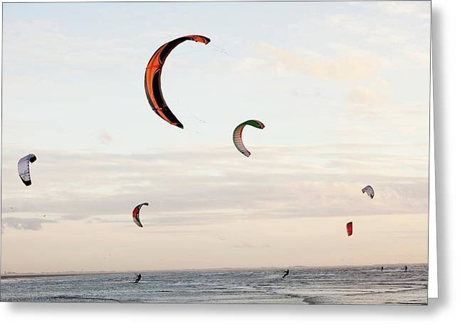 Kite Surfers Greeting Card