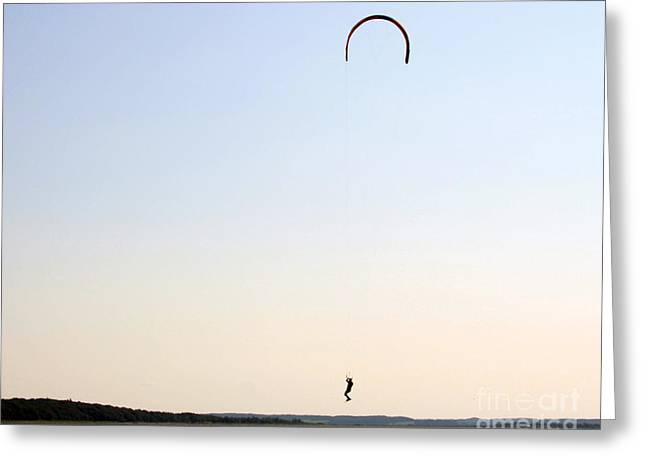 Kite Surfing Denmark Greeting Card by Juan Romagosa