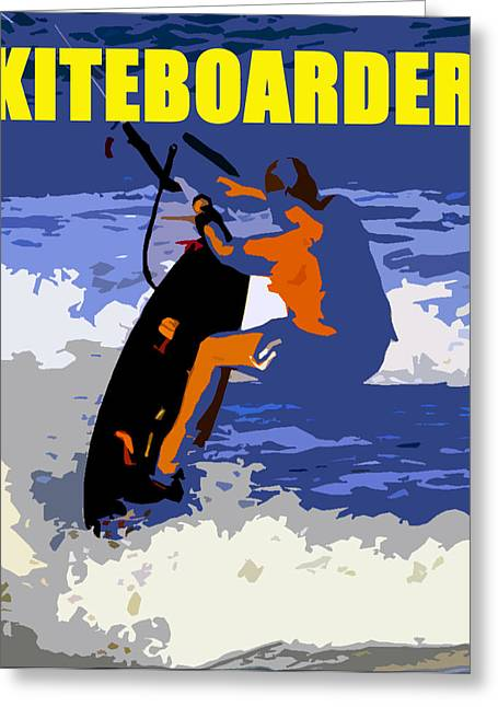 kITEBOARDER smart phone art Greeting Card by David Lee Thompson