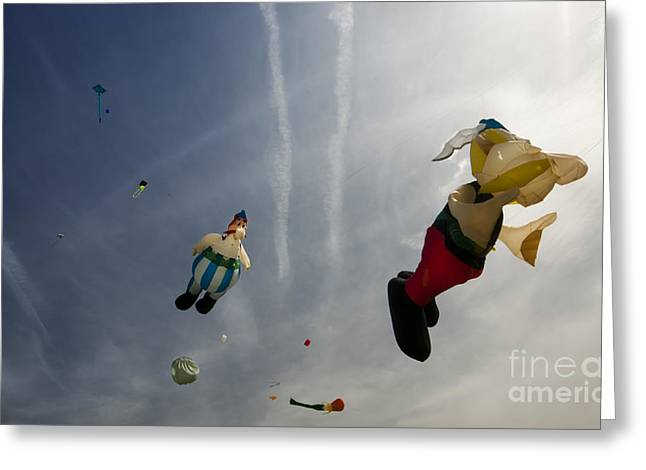 Kites On The Sky Greeting Card