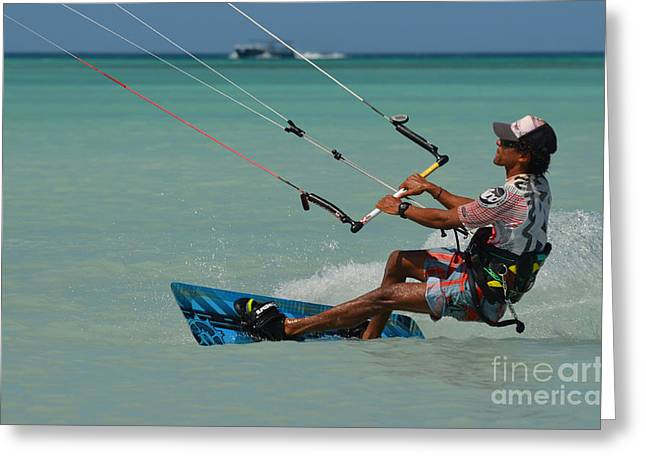 Kitesurf Greeting Card by DejaVu Designs