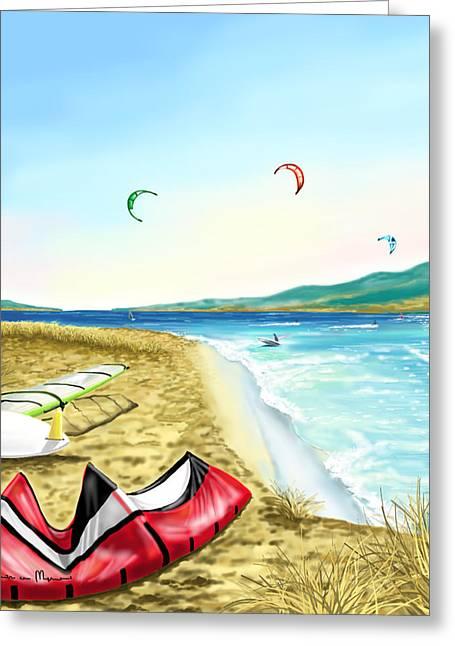 Kitesurf Greeting Card