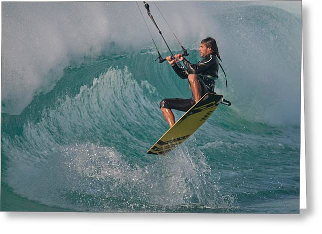 Kiting Los Lances Greeting Card by AJM Photography