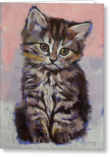 Kitten Greeting Card by Michael Creese