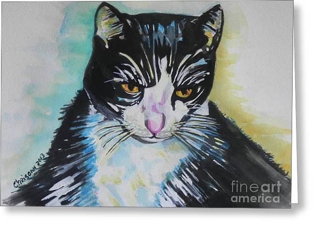 Kitty ..all Grown Up Greeting Card by Chrisann Ellis