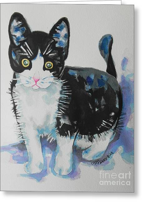 Kitty Greeting Card by Chrisann Ellis