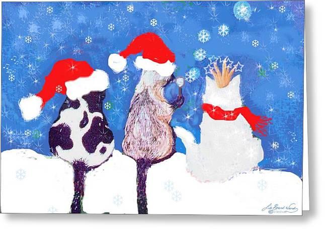 Kitty Christmas Greeting Card