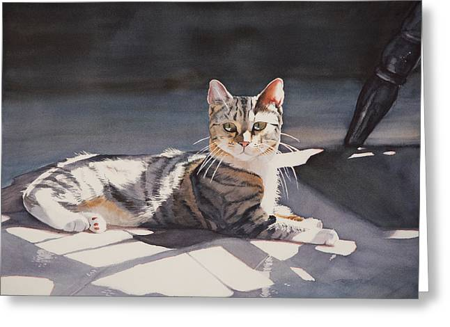 Kitty Greeting Card by Christopher Reid
