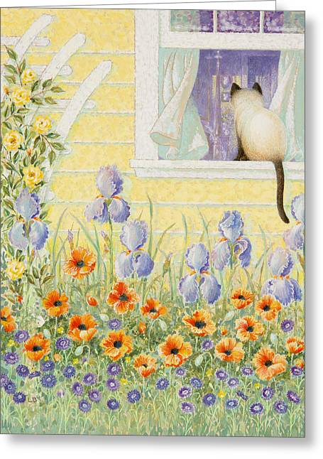 Kitty In The Window Greeting Card