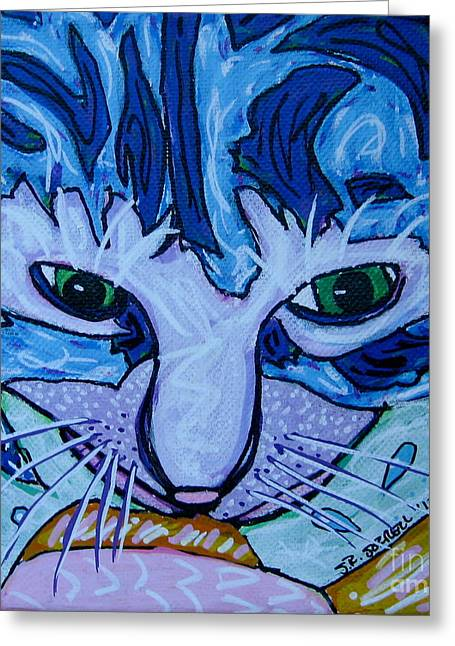 Kitty Greeting Card by Susan Sorrell