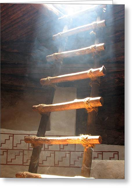 Greeting Card featuring the photograph Kiva Ladder by Marcia Socolik