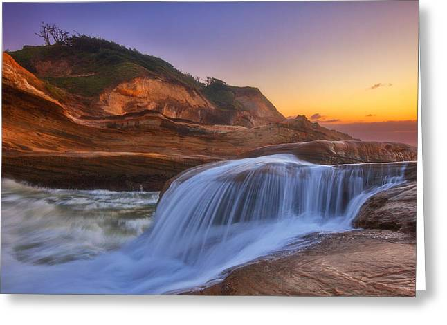Kiwanda Cascade Greeting Card by Darren  White