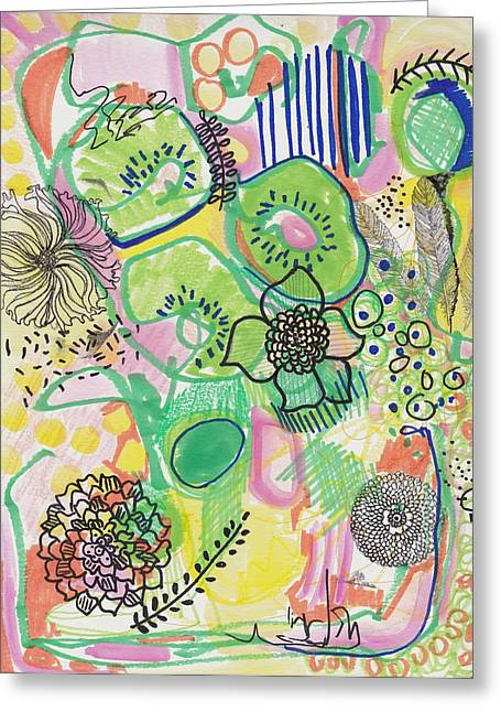 Kiwi Abstract Greeting Card