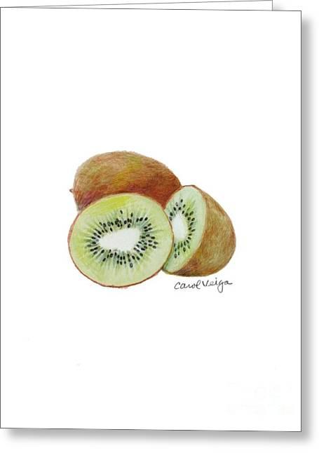 Kiwi Greeting Card by Carol Veiga