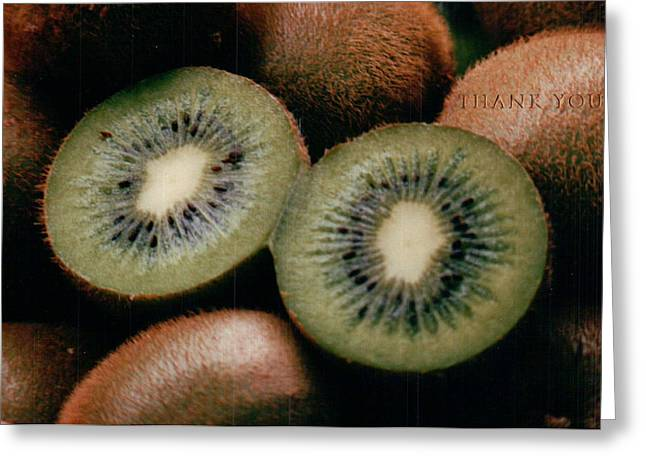 Kiwi Eyes And A Reminder To Utter The Words Thank You. Greeting Card