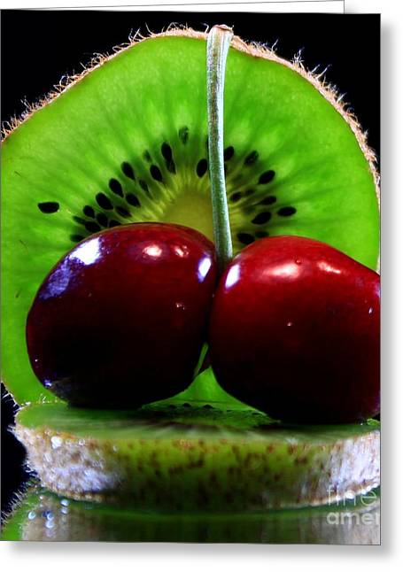 Kiwi Fruit Greeting Card by Dipali S