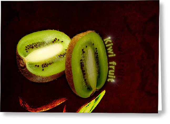 Kiwi Fruit Greeting Card by Tommytechno Sweden