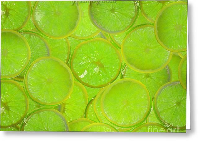 Kiwi Lemon Orange Greeting Card