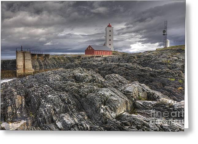 Kjolnes Lighthouse 1 Greeting Card by Heiko Koehrer-Wagner