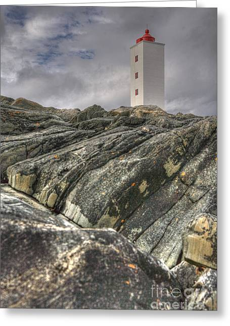 Kjolnes Lighthouse 3 Greeting Card by Heiko Koehrer-Wagner