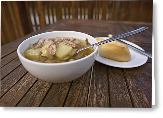 Kjotsupa Traditional Icelandic Lamb Soup Stew  Greeting Card