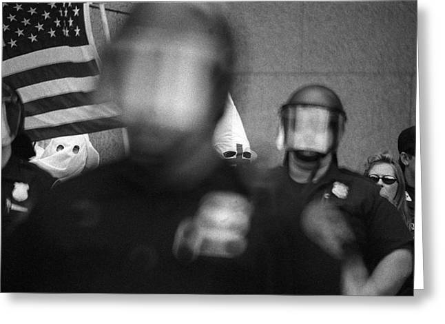 Kkk Rally In Cleveland Ohio August 21 1999-usa  Greeting Card