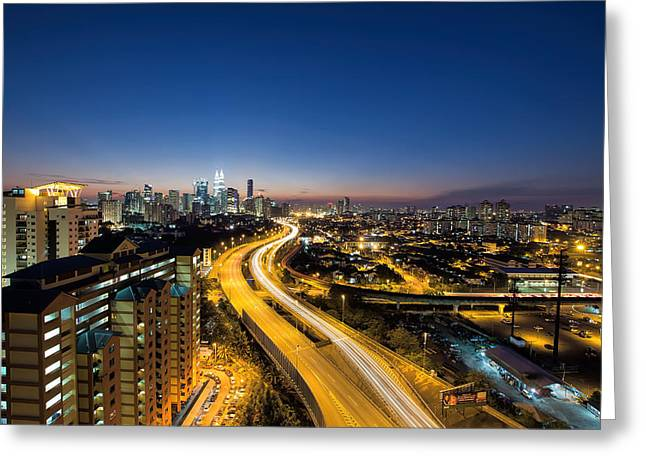 Kl At Blue Hour Greeting Card by David Gn