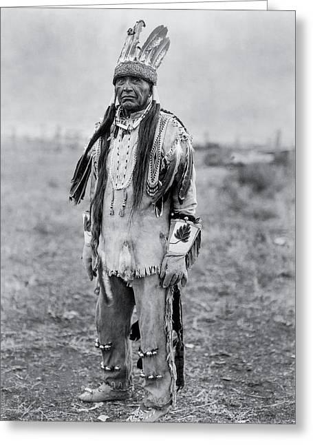 Klamath Indian Man Circa 1923 Greeting Card