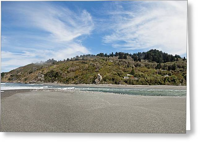 Klamath River Mouth Panorama Greeting Card by Scott Pellegrin