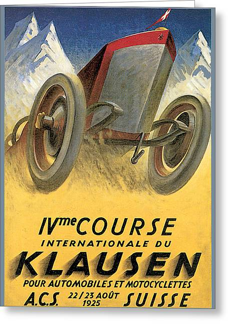 Klausen Automobile Greeting Card by Vintage Automobile Ads and Posters