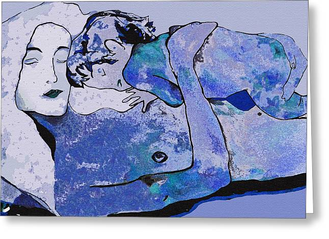 Klimt Blue Period  Greeting Card by WaterLily