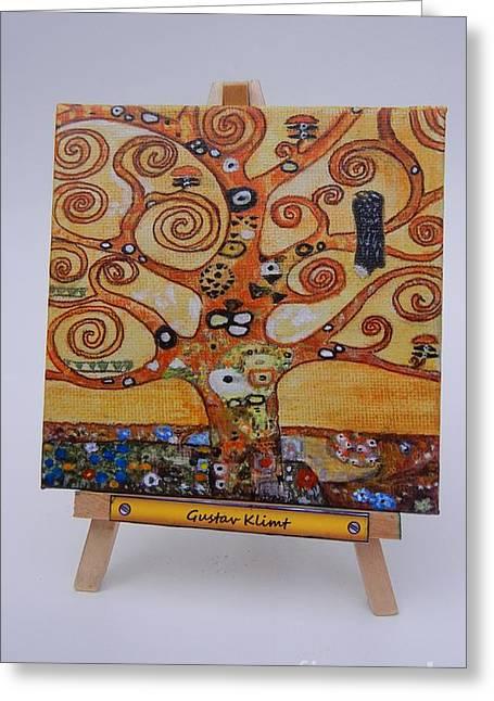Klimt Tree Of Life Greeting Card by Diana Bursztein